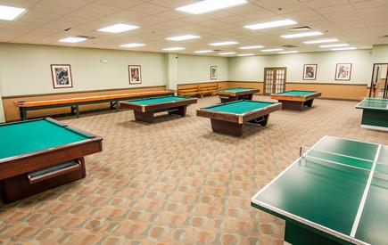 Split Rock Resort – Billiards Room