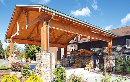 Split Rock Resort Lodge Entrance
