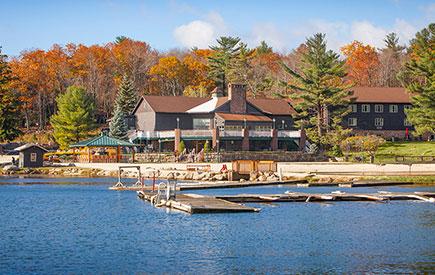 Split Rock Lodge Lake Exterior Fall